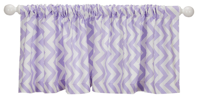 Swizzle Purple Chevron Valance.