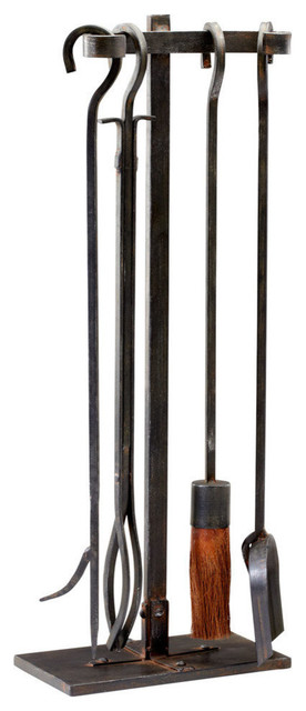 Lincoln Hearth Tools In Raw Steel.