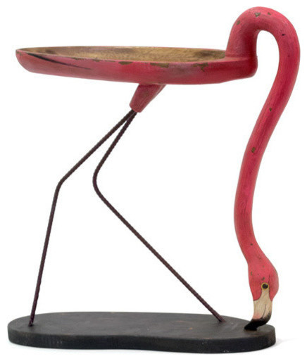 Flamingo Side Table   Eclectic   Side Tables And End Tables   By GO HOME LTD