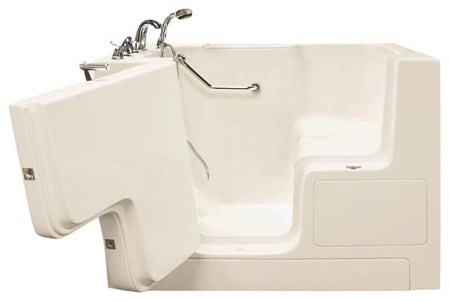 """Oasis Walk-In Bathtub 32""""x52"""" Standard Soaker Left-Hand Door, Biscuit."""