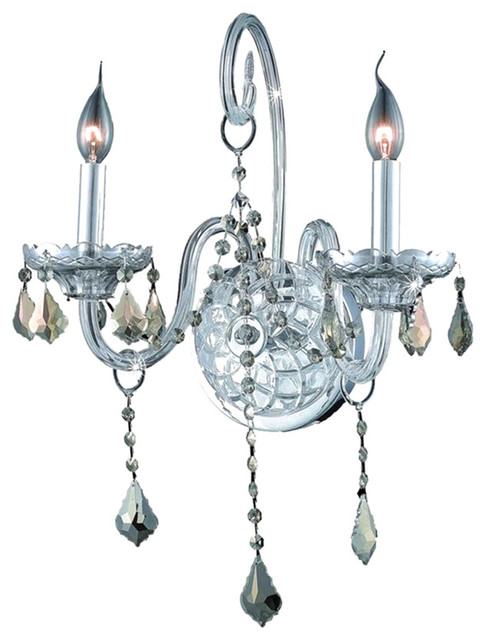 Elegant Lighting Verona Wall Sconce 2 Light Chrome With Royal Cut - Transitional - Wall Sconces ...