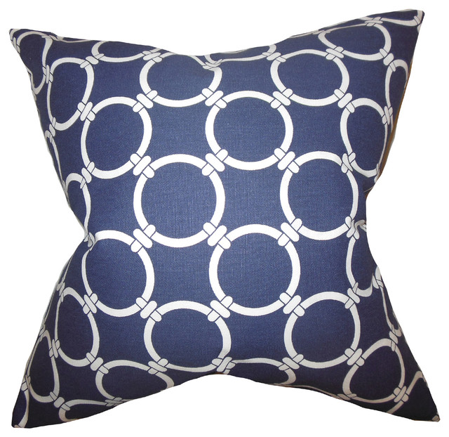 Throw Pillow Covers Home Kitchen The Pillow Collection Betchet Geometric Bedding Sham Gray Queen 20 X 30