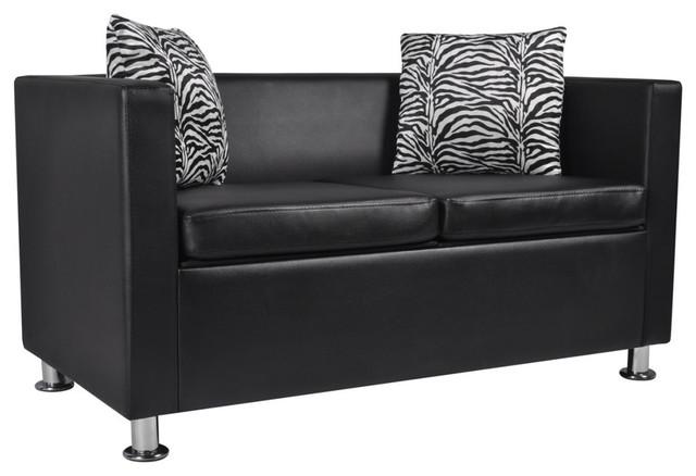 Marvelous Vidaxl Artificial Leather 2 Seater Sofa Black Machost Co Dining Chair Design Ideas Machostcouk