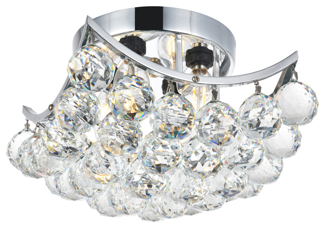 Contemporary 4 light 8 square crystal ball chrome flush mount contemporary 4 light 8 square crystal ball chrome flush mount ceiling lamp contemporary mozeypictures Images