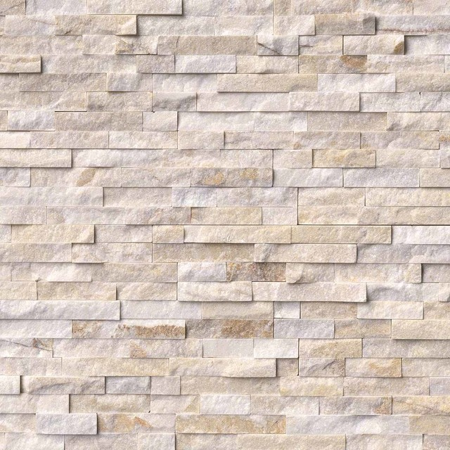 Arctic White Stacked Stone Splitface