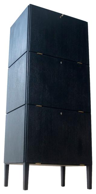 Poul Henningsen Filing Cabinet, Black Oak Veneer.