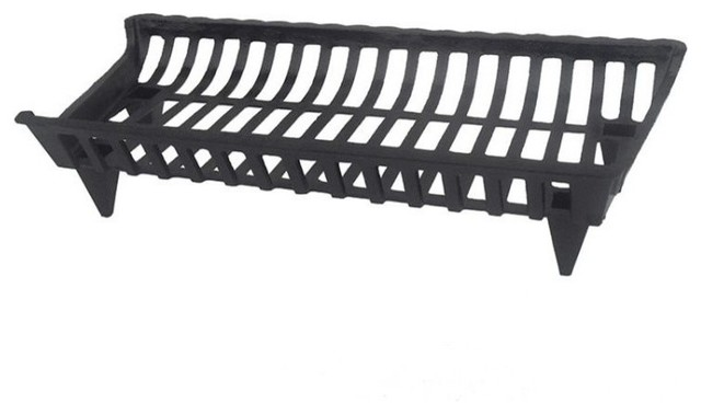 Pleasant Hearth Cg30 Cast-Iron Fireplace Grate, Black, 30.