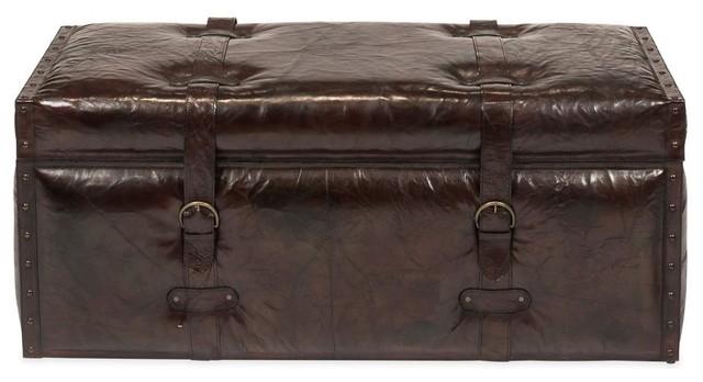 Warren Leather Trunk Bench.