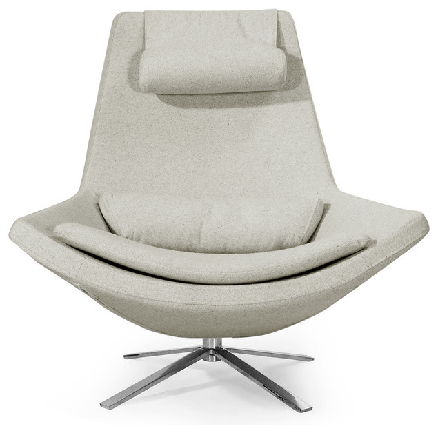 Modern Lounge Chairs For Living Room retropolitan modern cashmere lounge wing chair - midcentury