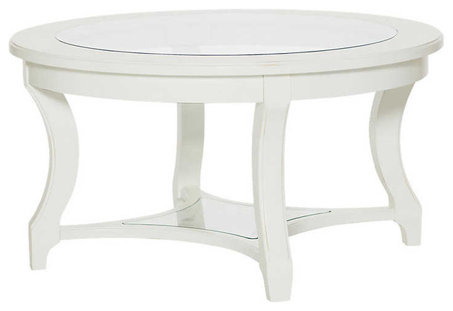 Terrific Lynn Haven Round Glass Cocktail Table By American Drew Machost Co Dining Chair Design Ideas Machostcouk