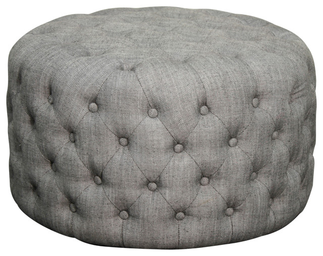 Lulu Round Fabric Tufted Ottoman Shark transitional-footstools-and-ottomans  sc 1 st  Houzz & Lulu Round Fabric Tufted Ottoman - Transitional - Footstools And ... islam-shia.org