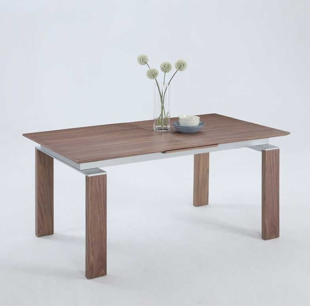 Chintaly Brittany Pop-Up Extension Table, Walnut Veneer.