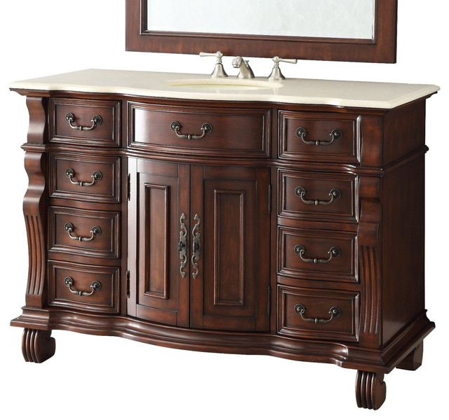 "50"" Old World All Wood Hopkinton Bathroom Sink Vanity ..."