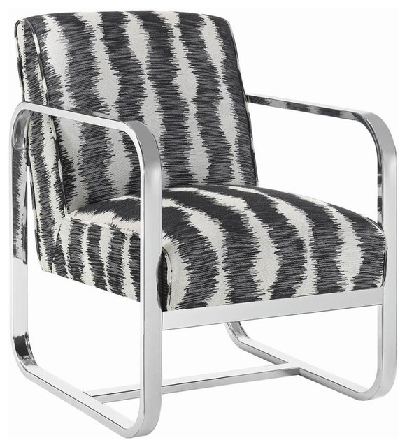 Stylish Accent Chair Grey Fabric Silver Crushed Velvet Modern Home Bedroom Chair