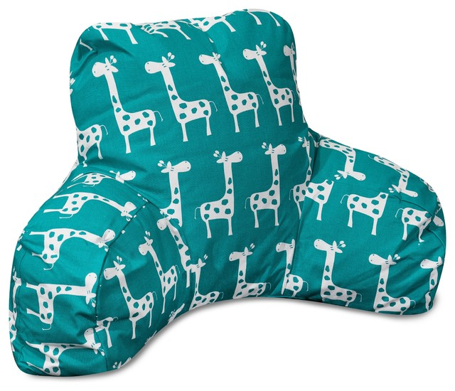 Majestic Home Goods - Stretch Turquoise Reading Pillow & Reviews Houzz