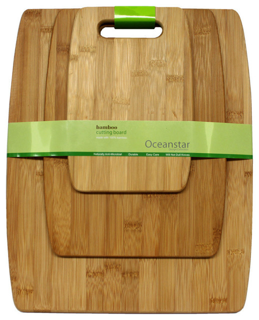 Oceanstar 3-Piece Bamboo Cutting Board Set.