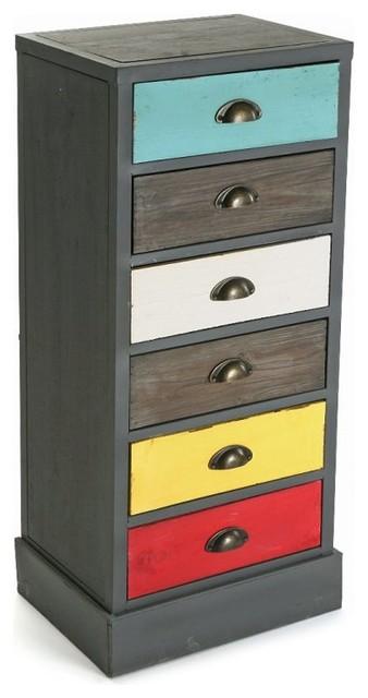 vancouver chiffonnier commode en bois 6 tiroirs color s. Black Bedroom Furniture Sets. Home Design Ideas
