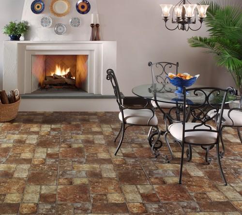 traditional floors Sobella Omni HD fiberglass core, vinyl sheet flooring from Mannington
