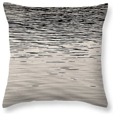 Black Amp White Throw Pillow Sunset Reflections The Great