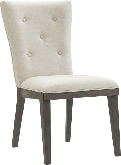 Samara Side Chair, Rustic Coffee Bean by BASSETT MIRROR CO.
