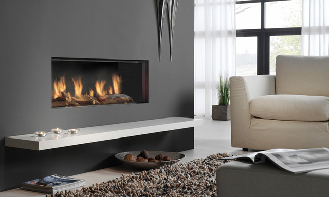 Dru Global Gas Fires Contemporary Fireplaces Other