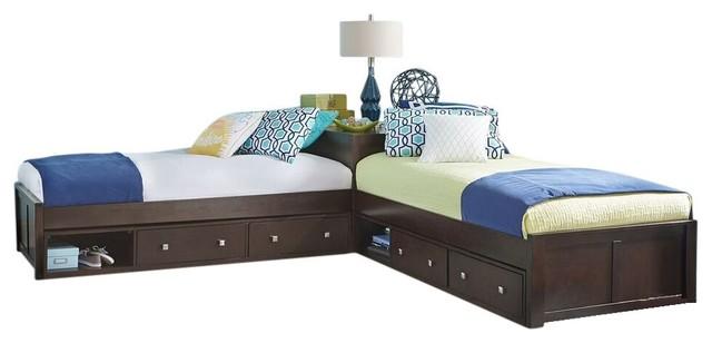 Larkin L Shape Extra Long Twin Size Corner Bed