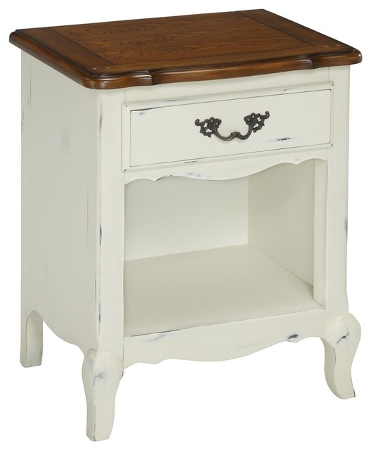 The french countryside oak and rubbed black nightstand for French nightstand bedside table