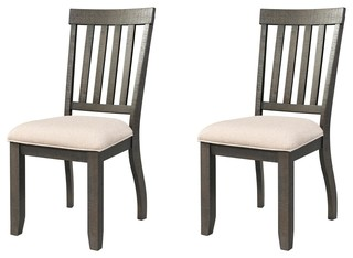 Farrelly Cream Upholstered Chairs, Set of 2