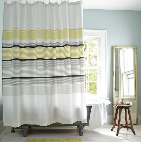 grey and white striped shower curtain. Inspiring Grey White Striped Shower Curtain Ideas Best Idea Home Yellow And White Striped Shower Curtain  Avarii Org Design