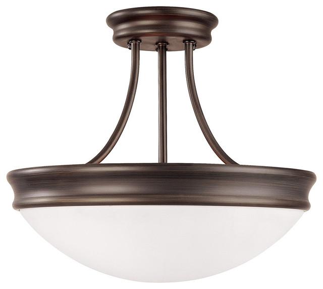Capital Lighting Oil Rubbed Bronze Semi Flush Mount Ceiling Lighti - 2037or.
