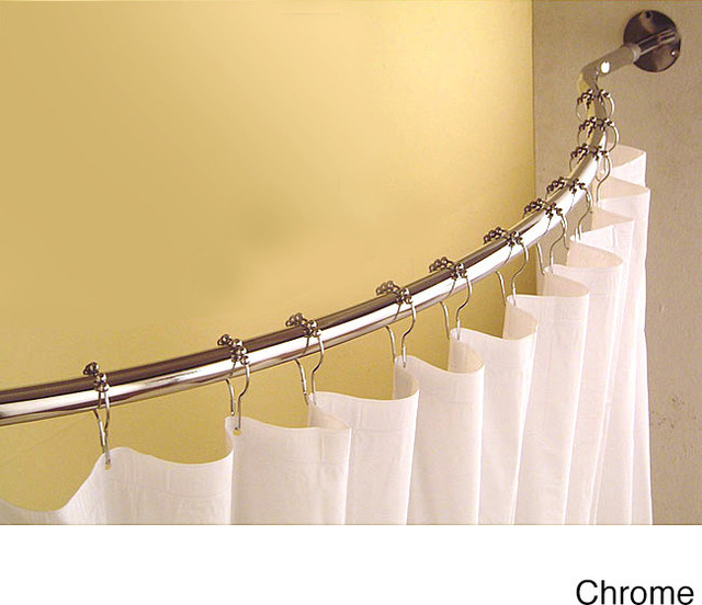 Curved 78 To 84 Inch Shower Curtain Rod