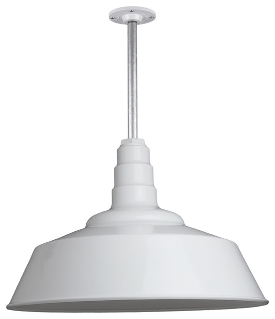 Barn Lighting 20 Pendant With Rigid Stem White