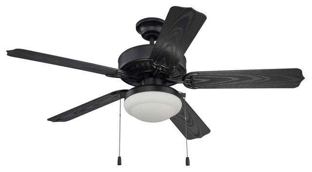 Cove Harbor 2-Light Indoor Ceiling Fans, Matte Black.