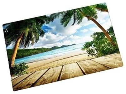 Seychelles Beach And Wood Floor Entrance Mats Floor Carpet Interior/outdoor.