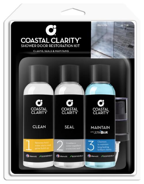 Coastal Clarity Shower Door Restoration Kit, Three-Step System