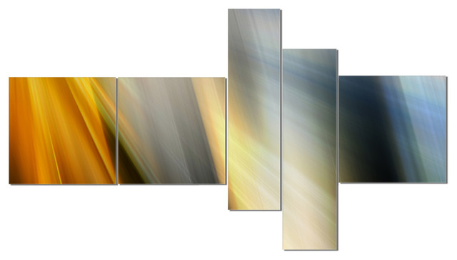 Vertical Multi Panel Abstract Art