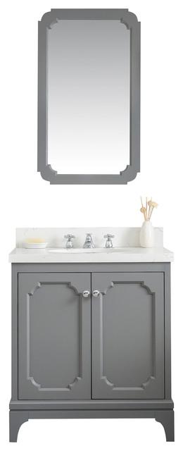 30 Wide Cashmere Gray Single Sink, 30 Wide Bathroom Vanity