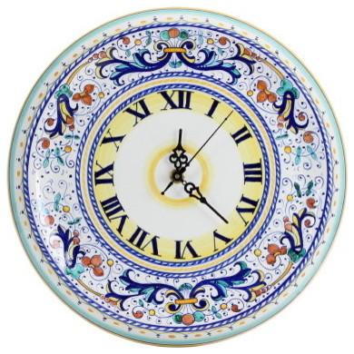 Ricco Deruta, Round Wall Clock - Mediterranean - Wall Clocks - by ...