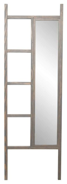 Brandtworks 23.25x72 Weathered Gray Leaning Mirror Ladder.