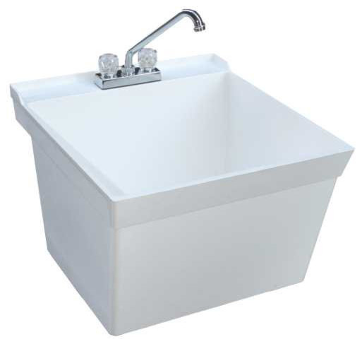 Swan Mf 4F Veritek Wall Mounted Laundry Tub Contemporary Utility Sinks