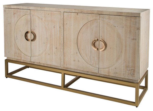 Toretto Sideboard With Gold Legs Contemporary Buffets And