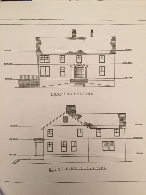 1940s Colonial floor plan w mid 2000s addition reno
