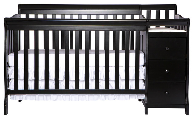 Dream On Me 5-in-1 Brody Convertible Crib With Changer, Black