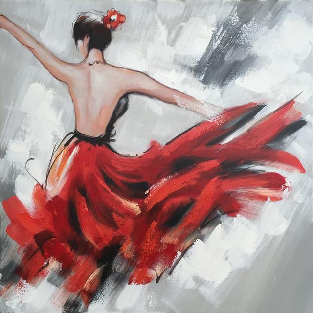 Modern Art Painting Dress