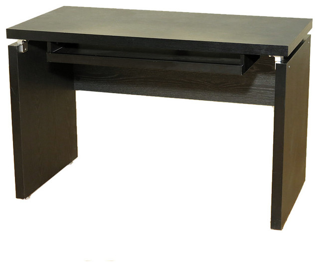 Coaster Peel Black Computer Desk Table With Keyboard Tray