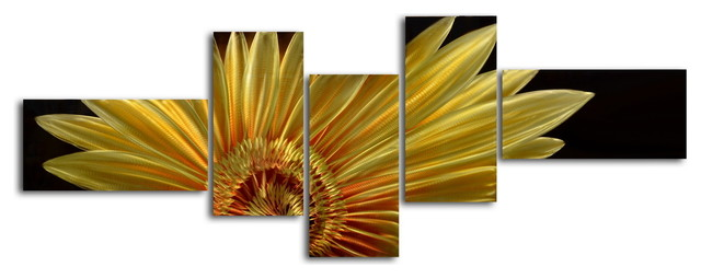 Metal Wall Art Decor Abstract Contemporary Modern, Mostly a golden ...