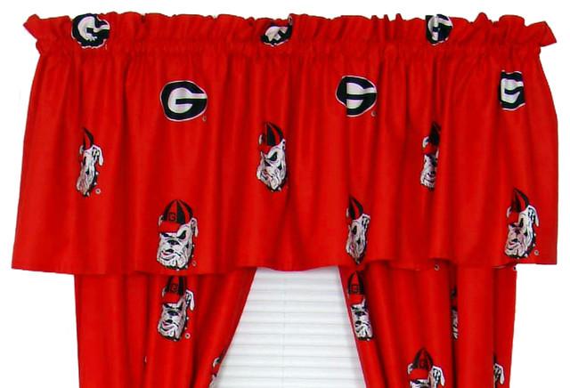 "Georgia Bulldogs Printed Curtain Valance, 84""x15""."