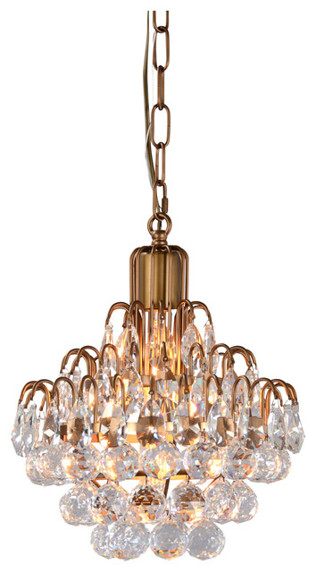 Thayer 1-Light Tear-drop Crystal Chandelier by Kosas Home