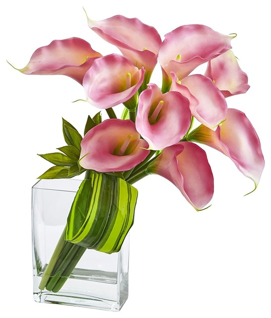 "20"" Calla Lily & Succulent Bouquet Artificial Arrangement"