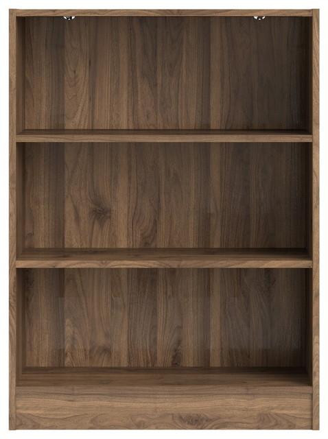 Tvilum Element 3 Shelf Bookcase Walnut Transitional Bookcases By Homesquare